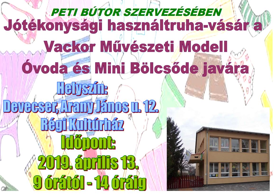 526e1c85a47d Jótékonysági használtruha-vásár a Vackor Művészeti Modell Óvoda és Mini  Bölcsőde javára